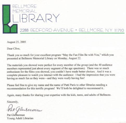 Bellmore Letter