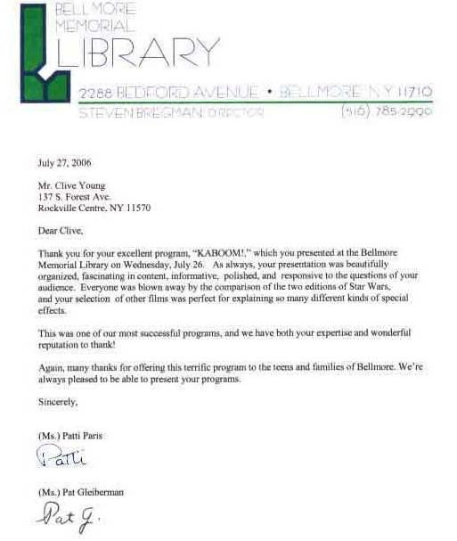 Bellmore Letter 3