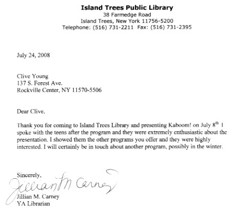 Island Trees Letter