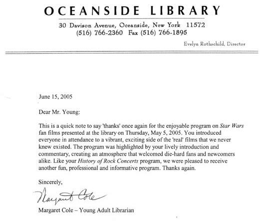 Oceanside Letter