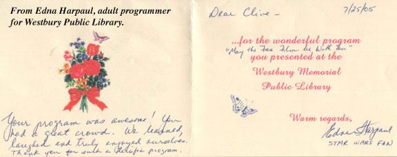 Westbury Letter 2